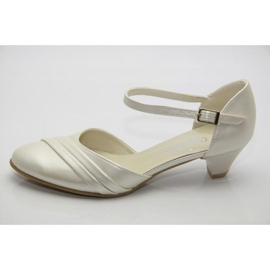 Ekrü menyasszonyi cipő Honey