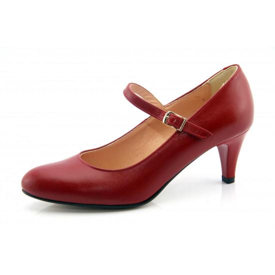 Menyecske cipő piros Bianca