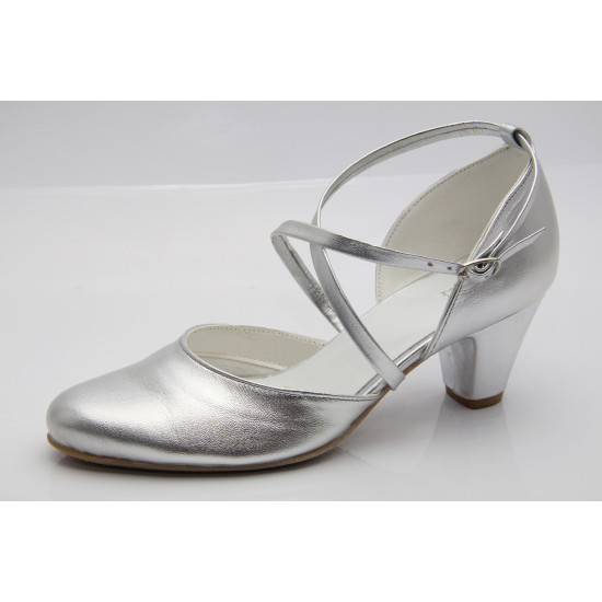 Ezüst esküvői cipő Lady Art2