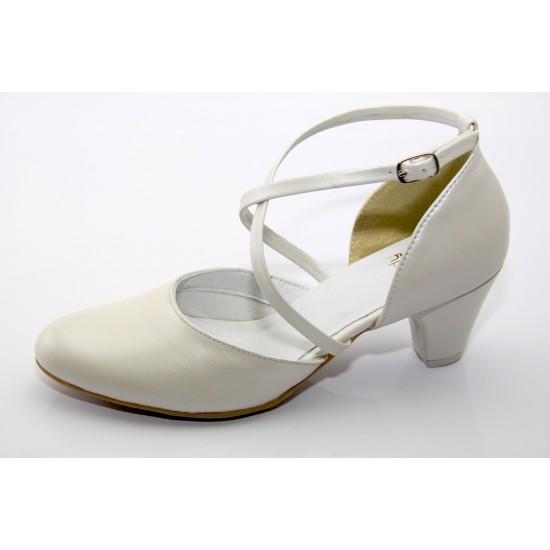 Ekrü esküvői cipő Lady Art2