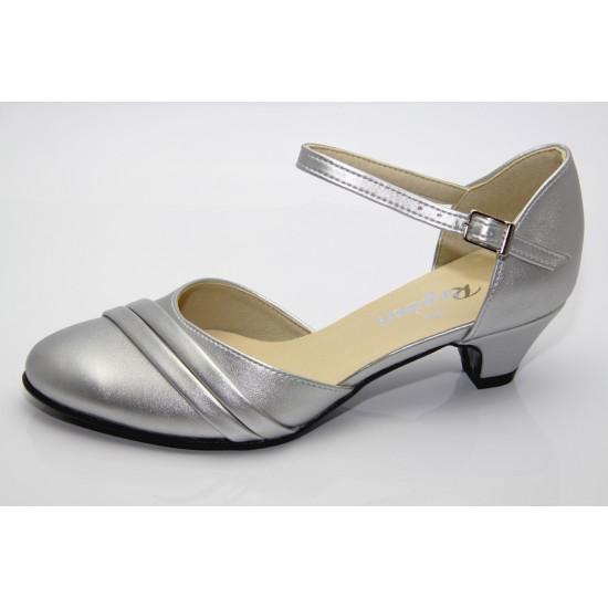 Ezüst menyasszonyi cipő Honey