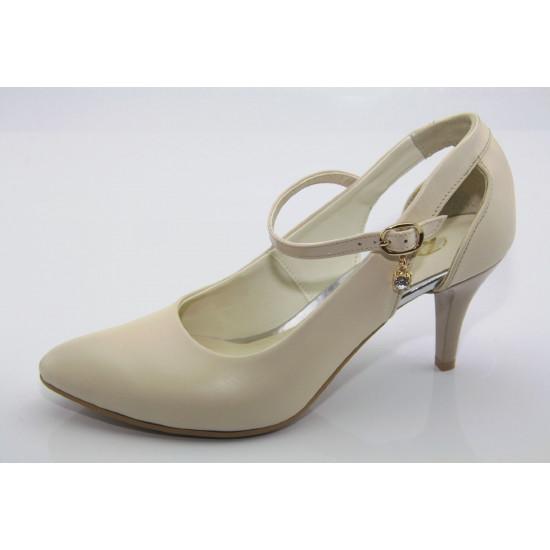 Menyasszonyi cipő gyöngyházfényű beige Avni