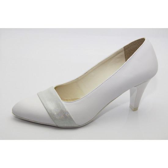 Esküvői cipő fehér-ezüst Gilda