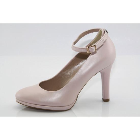 Puder színű platformos alkalmi cipő Zara