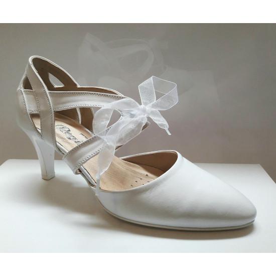 Fehér menyasszonyi cipő Ines